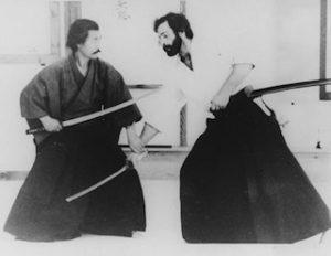 Mitsuzuka Sensei teaching iaido kumitachi sword